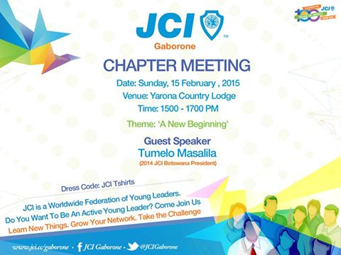 Photo of JCI HOSTS A CHAPTER MEETING