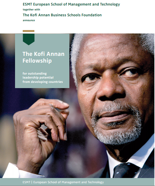 Photo of Opportunities For Botswana Youth : Kofi Annan MBA Scholarships for Developing Country Students