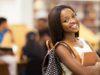 beautiful female african american university student portrait