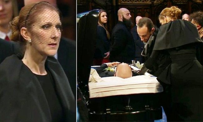 Photo of Celine Dion Together With Fans Pays Last Respect To Her Husband