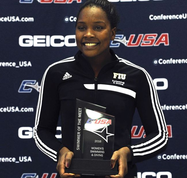 Photo of Naomi Ruele Clinches FIU Athletics Swimmer Of The Year Award!