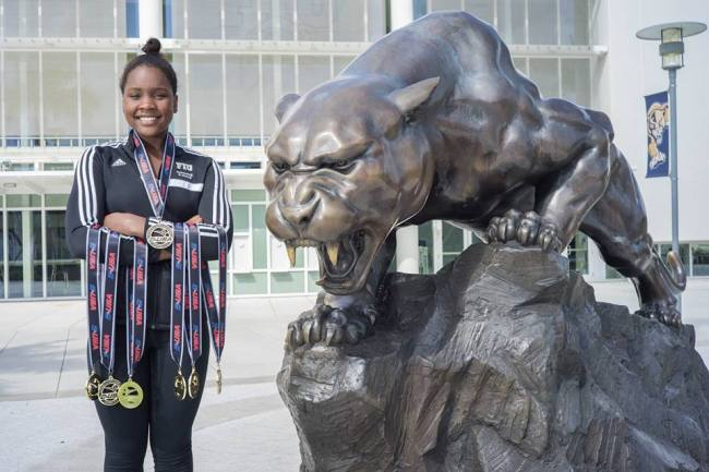 Photo of Swimming Sensation Naomi Ruele Bags 7 Medals!
