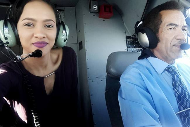 Photo of Miss Botswana Gets Flown Around By The President!