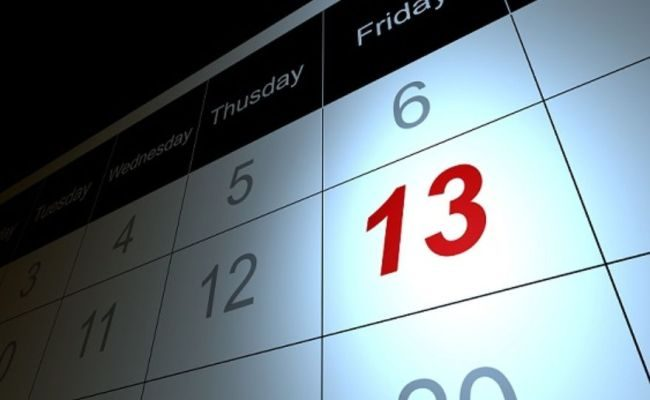Image result for friday the 13th calendar