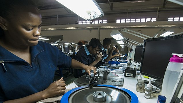 Photography of Tiffany & Co. Laurelton diamond manufacturing plant, Gaborone, Botswana.