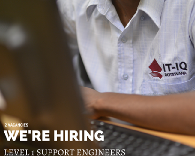 Photo of 2 Level 1 Field Support Engineers Wanted AT IT-IQ Botswana