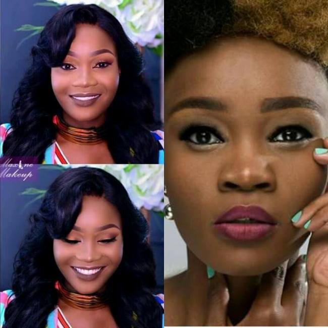 Photo of Amantle Brown's Dramatic Make Up Makes Her Unrecognizable!