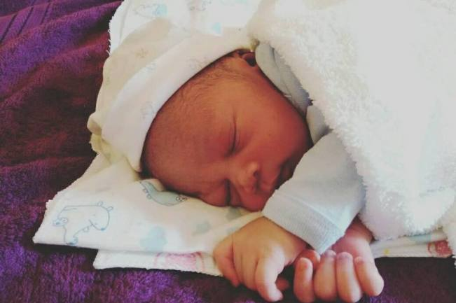Photo of Cute: Ozi F Teddy Can't Get Enough Of His New Born Baby Boy!