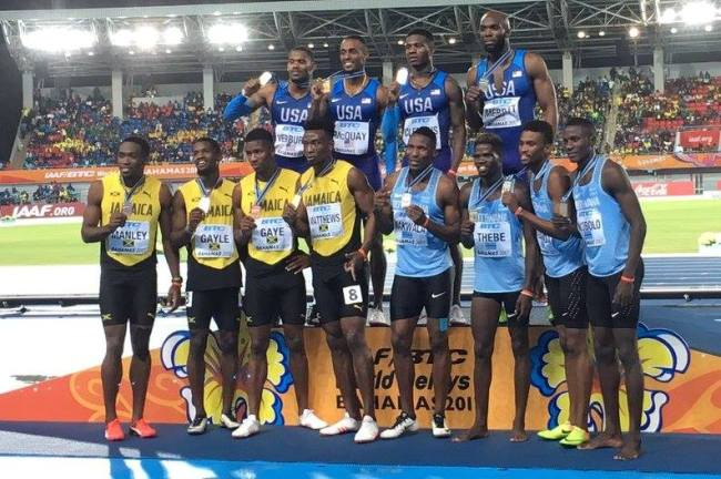 Photo of Botswana Men Relay Team Snatch Silver Medal At IAAF World Relays