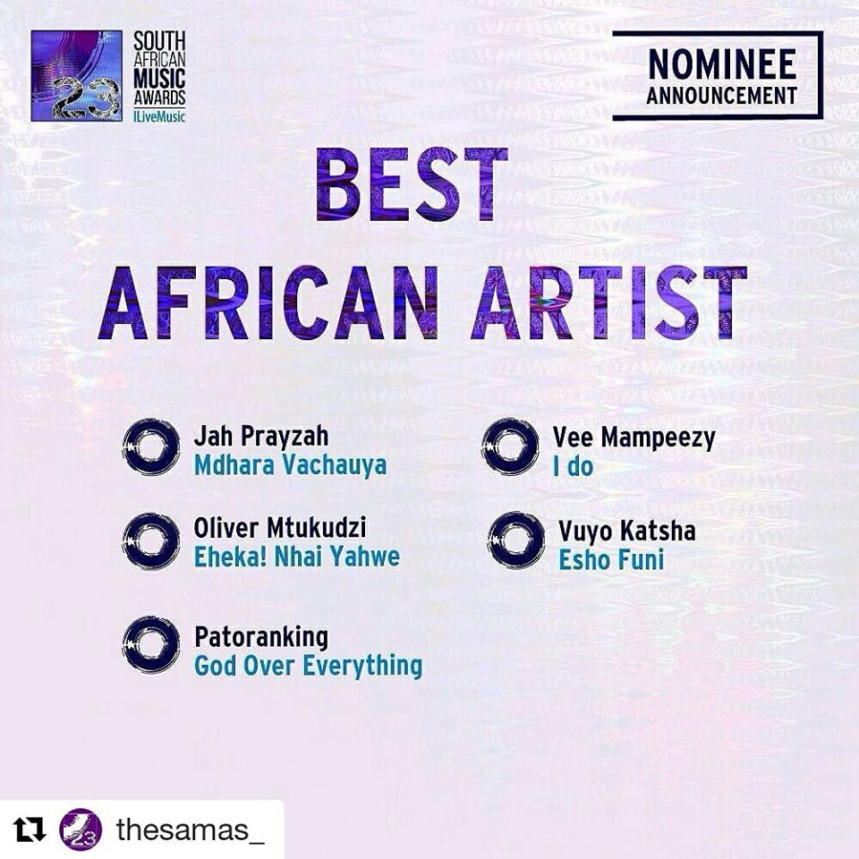 Photo of Levels: Vee Bags Himself A SAMA Nomination