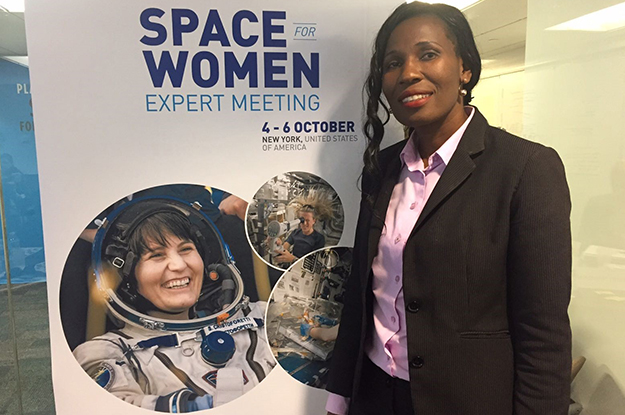 Photo of BIUST PhD Student Declared Space For Women Project Ambassador To Botswana At The UN Space Forum In NewYork, USA