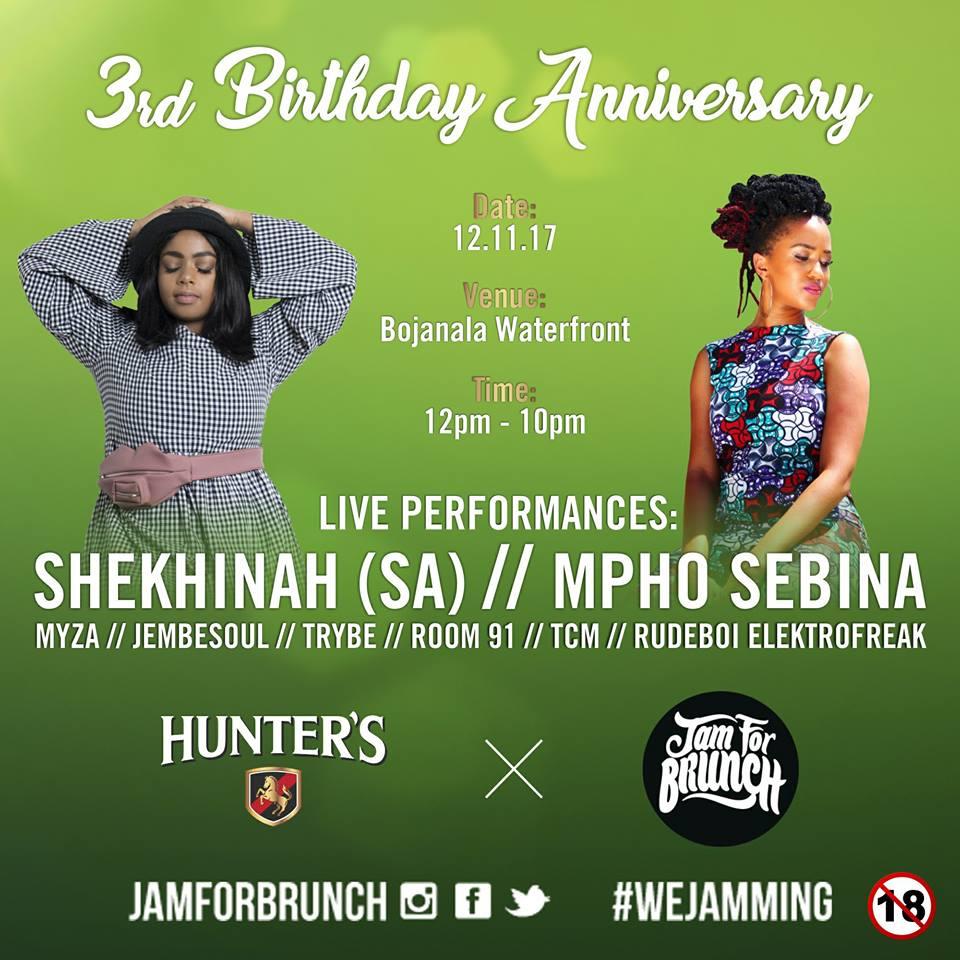 Photo of Mpho Sebina To Headline Jam For Brunch Third Anniversary Party Alongside Shekinah