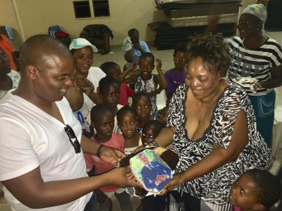 Photo of Bruce Has Donated His 47k Cake To Gamodubu Orphanage Centre