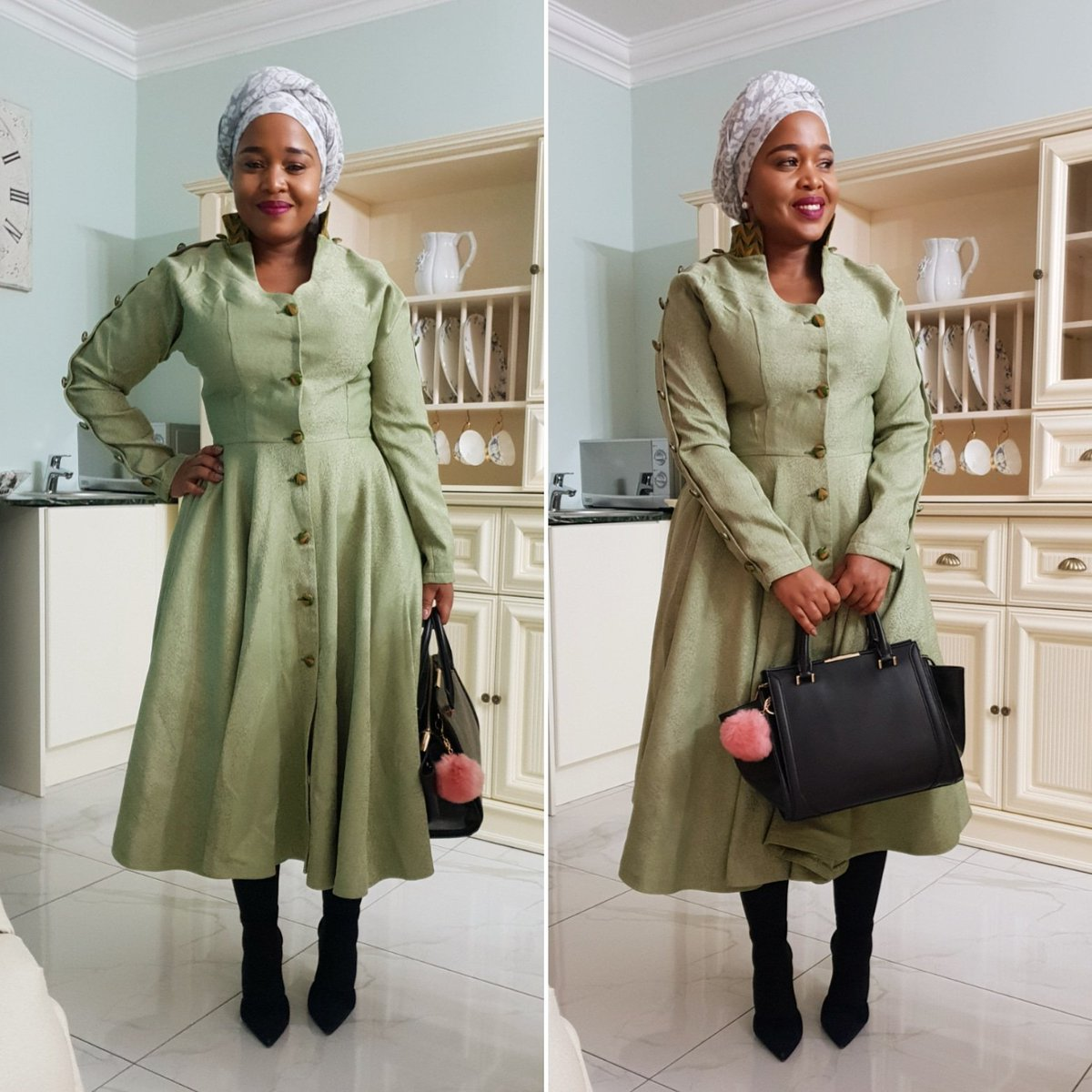 Photo of Winnie Mashaba joins hand in helping a quad mother