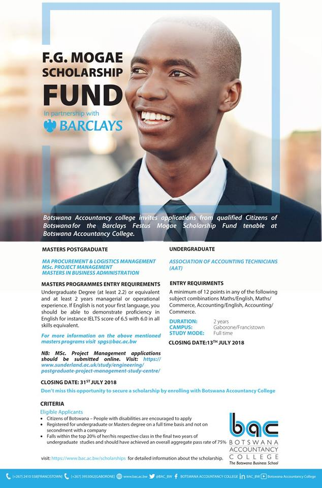 Photo of Mogae scholarship up for grabs
