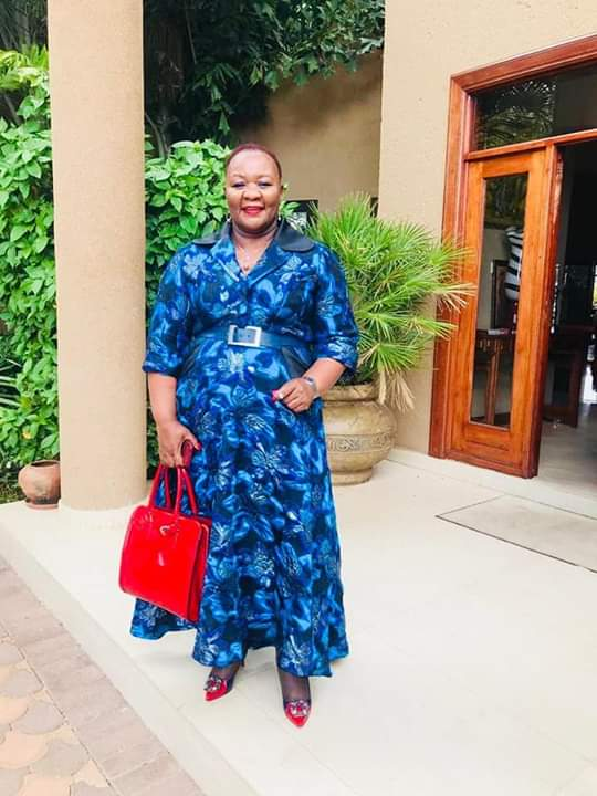 Photo of Dorcas Makgatho's dress boils social media again