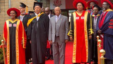 Photo of President Festus G. Mogae  inaugurated as Chancellor of  University in Nairobi Kenya