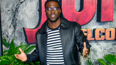 Photo of Kevin Hart back at work following car crash