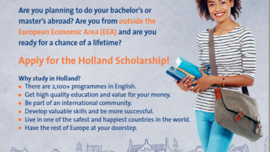Photo of Holland Scholarships 2020/2021 for Bachelor's or Masters Study in the Netherlands (5,000 Euros)