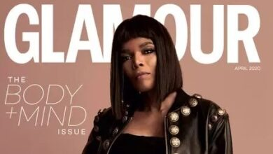 Photo of Behind the scenes footage of Connie Ferguson's Glamour Magazine photoshoot