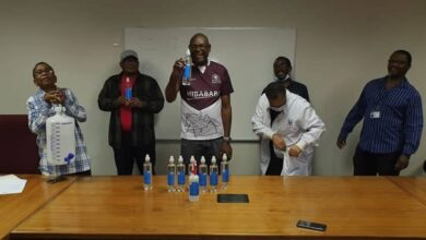 Photo of UNIVERSITY OF BOTSWANA STUDENTS INITIATE PRODUCTION OF HAND SANITIZERS AS RESPONSE TO COVID-19