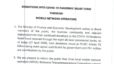 Photo of DONATIONS INTO COVID-19 PANDEMIC RELIEF FUND THROUGH MOBILE NETWORK OPERATORS