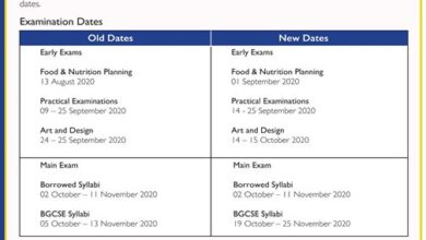 Photo of 2020 REVISED EXAMINATION DATES