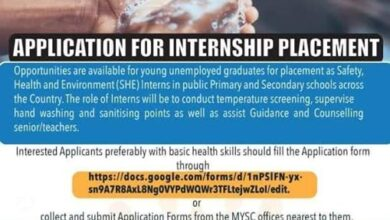 Photo of APPLICATION FOR INTERNSHIP PLACEMENT (SHE) INTERNS