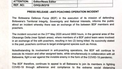 Photo of PRESS RELEASE –ANTI POACHING OPERATION INCIDENT