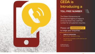 Photo of CEDA TOLL FREE NUMBER