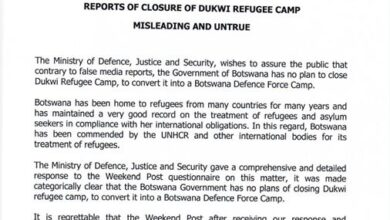 Photo of Reports Of Closure Of Dukwi Refugee Camp Misleading And Untrue